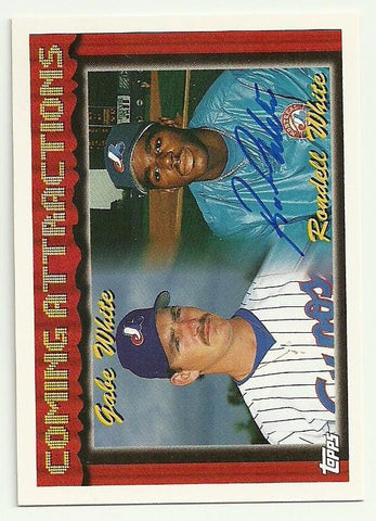 Rondell White Signed 1994 Topps Baseball Card - Montreal Expos