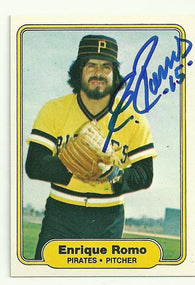 Enrique Romo Signed 1982 Fleer Baseball Card - Pittsburgh Pirates