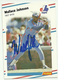 Wallace Johnson Signed 1988 Fleer Baseball Card - Montreal Expos