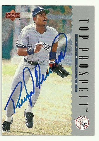 Ruben Rivera Signed 1995 Upper Deck Baseball Card - New York Yankees - PastPros