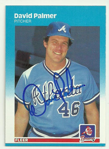Dave Palmer Signed 1987 Fleer Baseball Card - Atlanta Braves