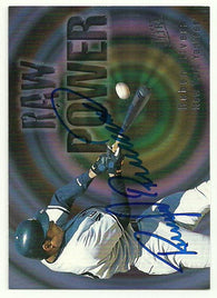 Ruben Rivera Signed 1997 Fleer Ultra Baseball Card - New York Yankees - PastPros