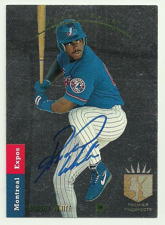 Rondell White Signed 1993 Upper Deck Baseball Card Montreal Expos