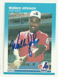 Wallace Johnson Signed 1987 Fleer Baseball Card - Montreal Expos
