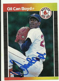 Dennis 'Oil Can' Boyd Signed 1989 Donruss Baseball Card - Boston Red Sox - PastPros