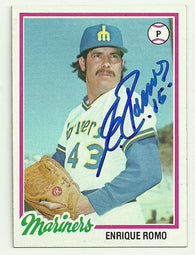 Enrique Romo Signed 1978 Topps Baseball Card - Seattle Mariners