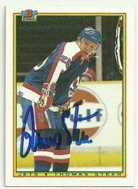 Thomas Steen Signed 1990-91 Bowman Hockey Card - Winnipeg Jets - PastPros