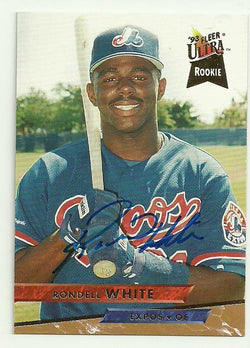 Rondell White Signed 1993 Fleer Ultra Baseball Card - Montreal Expos