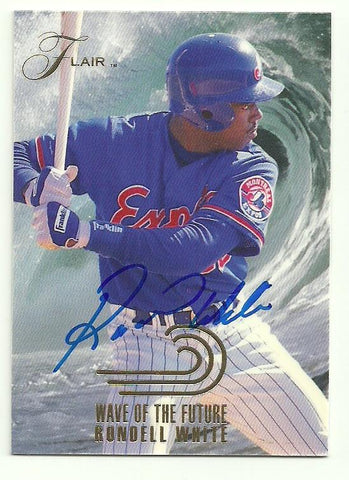Rondell White Signed 1993 Flair Baseball Card - Montreal Expos - PastPros