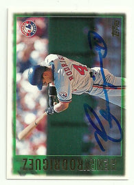 Henry Rodriguez Signed 1997 Topps Baseball Card - Montreal Expos