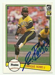 Enrique Romo Signed 1982 Donruss Baseball Card - Pittsburgh Pirates