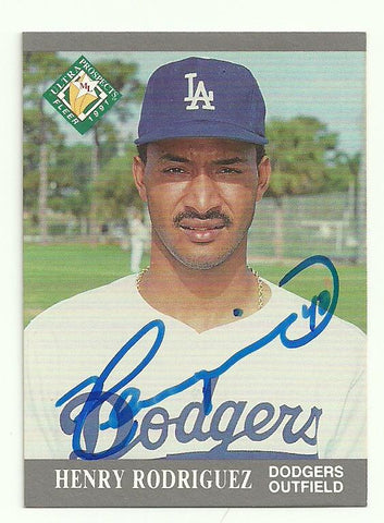 Henry Rodriguez Signed 1991 Fleer Ultra Baseball Card - Los Angeles Dodgers