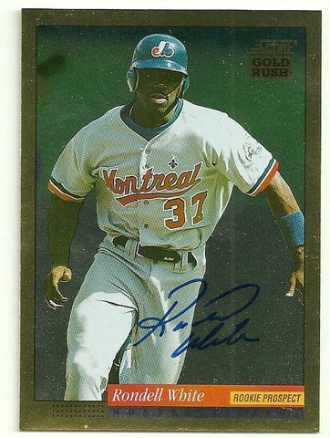 Rondell White Signed 1994 Score Gold Rush Baseball Card - Montreal Expos