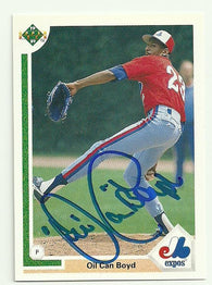 Dennis 'Oil Can' Boyd Signed 1991 Upper Deck Baseball Card - Boston Red Sox