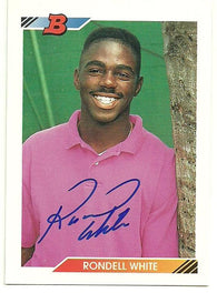 Rondell White Signed 1992 Bowman Baseball Card - Montreal Expos - PastPros