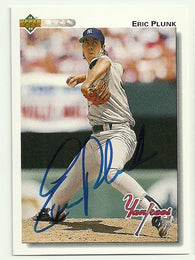 Eric Plunk Signed 1992 Upper Deck Baseball Card - New York Yankees - PastPros