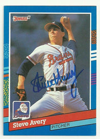 Steve Avery Signed 1991 Donruss Baseball Card - Atlanta Braves