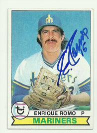 Enrique Romo Signed 1979 Topps Baseball Card - Seattle Mariners