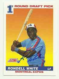 Rondell White Signed 1991 Score Baseball Card - Montreal Expos - PastPros