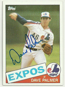 Dave Palmer Signed 1985 Topps Baseball Card - Montreal Expos