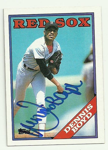 Dennis 'Oil Can' Boyd Signed 1988 Topps Baseball Card - Boston Red Sox
