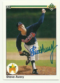 Steve Avery Signed 1990 Upper Deck Baseball Card - Atlanta Braves