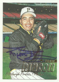 Ricardo Rincon Signed 1997 Fleer Baseball Card - Pittsburgh Pirates
