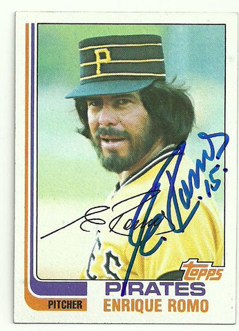 Enrique Romo Signed 1982 Topps Baseball Card - Pittsburgh Pirates - PastPros