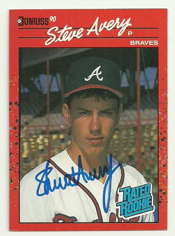 Steve Avery Signed 1990 Donruss Baseball Card - Atlanta Braves - PastPros