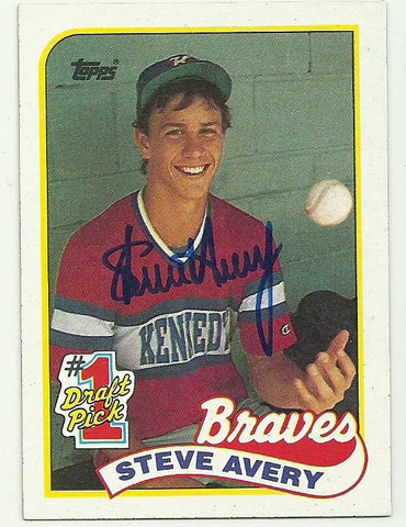 Steve Avery Signed 1989 Topps Baseball Card - Atlanta Braves