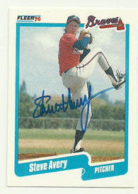 Steve Avery Signed 1990 Fleer Baseball Card - Atlanta Braves