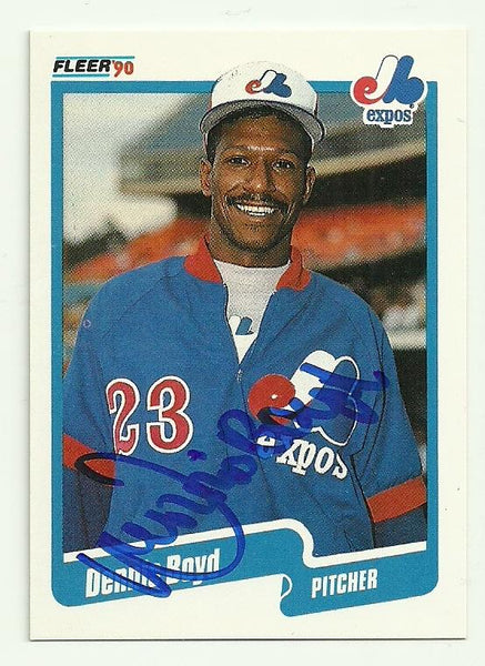 Dennis 'Oil Can' Boyd Signed 1990 Fleer Baseball Card - Montreal Expos