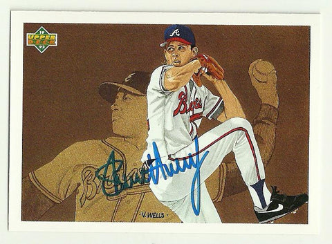 Steve Avery Signed 1992 Upper Deck Baseball Card - Atlanta Braves