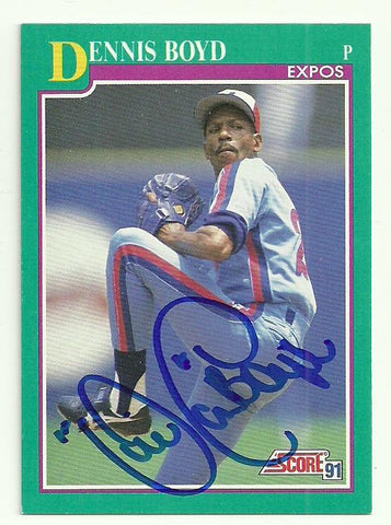 Dennis 'Oil Can' Boyd Signed 1991 Score Baseball Card - Montreal Expos - PastPros