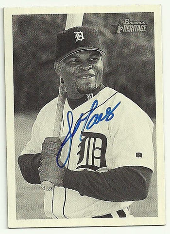 Jose Macias Signed 2001 Bowman Heritage Baseball Card - Detroit Tigers