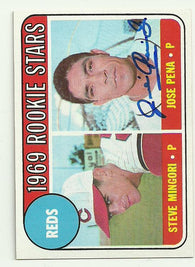 Jose Pena Signed 1969 Topps Baseball Card - Cincinnati Reds