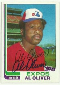 Al Oliver Signed 1982 Topps Baseball Card - Montreal Expos
