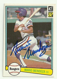 Mario Mendoza Signed 1982 Donruss Baseball Card - Texas Rangers