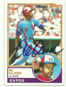 Al Oliver Signed 1983 Topps Baseball Card - Montreal Expos