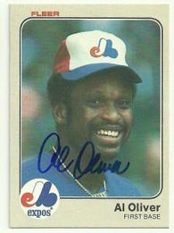 Al Oliver Signed 1983 Fleer Baseball Card - Montreal Expos