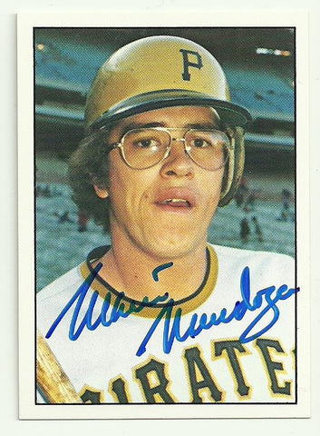 Mario Mendoza Signed 1975 SSPC Baseball Card - Pittsburgh Pirates - PastPros