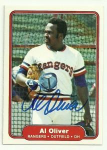 Al Oliver Signed 1982 Fleer Baseball Card - Texas Rangers