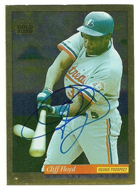 Cliff Floyd Signed 1994 Score Gold Rush Baseball Card - Montreal Expos