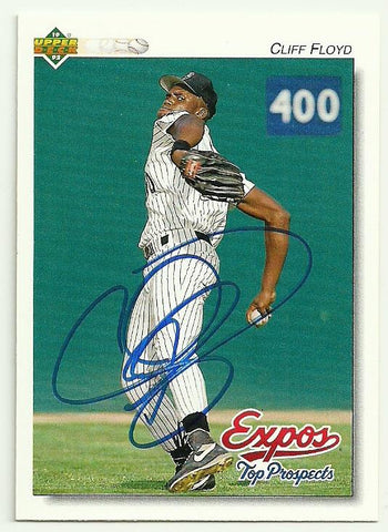 Cliff Floyd Signed 1992 Upper Deck Baseball Card - Montreal Expos