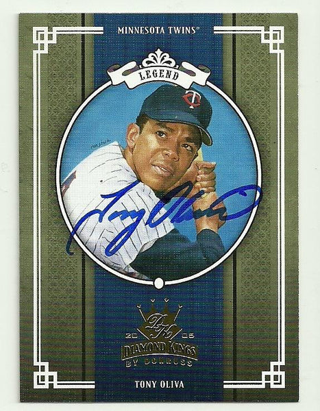 Tony Oliva Signed 2005 Donruss Diamond Kings Baseball Card - Minnesota Twins