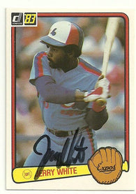Jerry White Signed 1983 Donruss Baseball Card - Montreal Expos