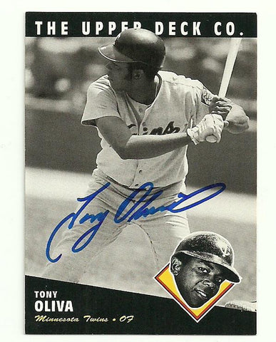 Tony Oliva Signed 1994 Upper Deck All-Time Heroes Baseball Card - Minnesota Twins - PastPros
