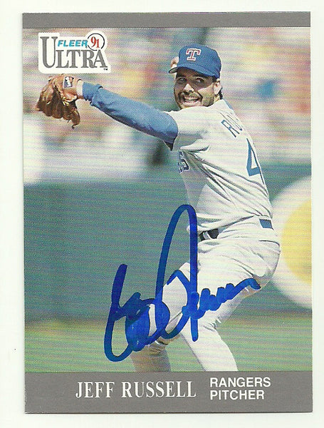 Jeff Russell Signed 1991 Fleer Ultra Baseball Card - Texas Rangers