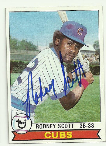 Rodney Scott Signed 1979 Topps Baseball Card - Chicago Cubs