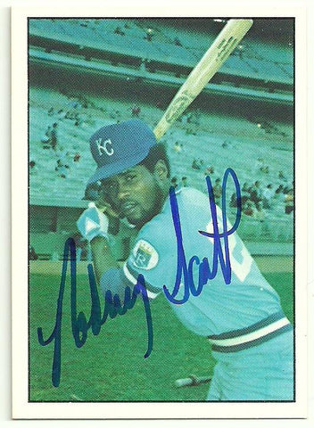 Rodney Scott Signed 1975 SSPC Baseball Card - Kansas City Royals